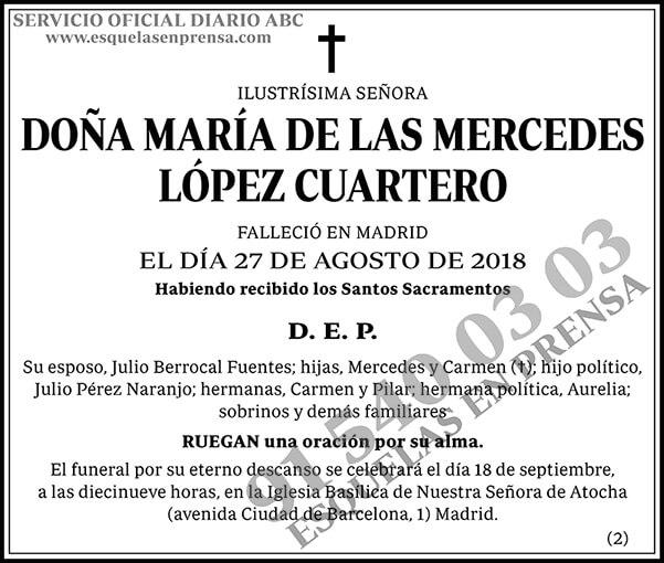 María de las Mercedes López Cuartero